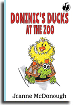 The front cover of the book Dominic's Ducks at the Zoo